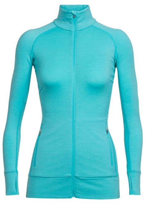 ICEBREAKER WOMENS FLUID ZONE ZIP THRU