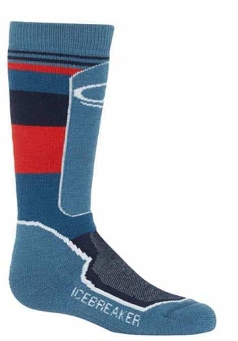 MED SKI SOCK - GRANITE BLUE