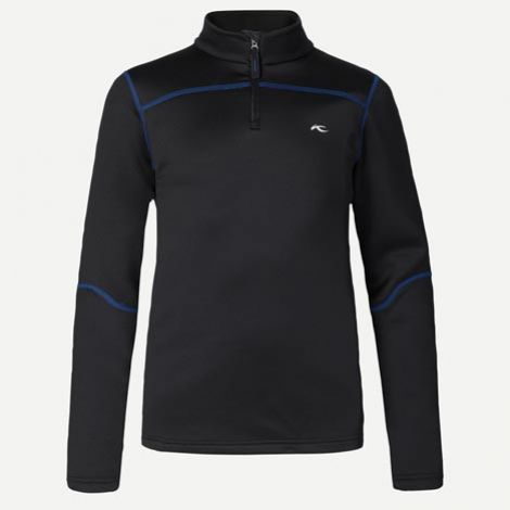 KJUS KIDS CHARGER HALFZIP TOP BLACK