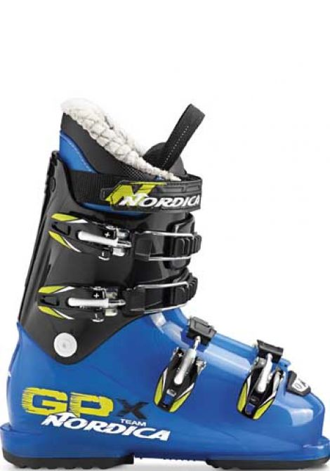 NORDICA GPX TEAM JNR SKI BOOTS BLUE/LIME