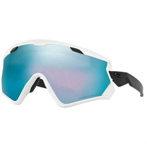 OAKLEY WIND JACKET 2.0 WHITE WITH SAPPHIRE