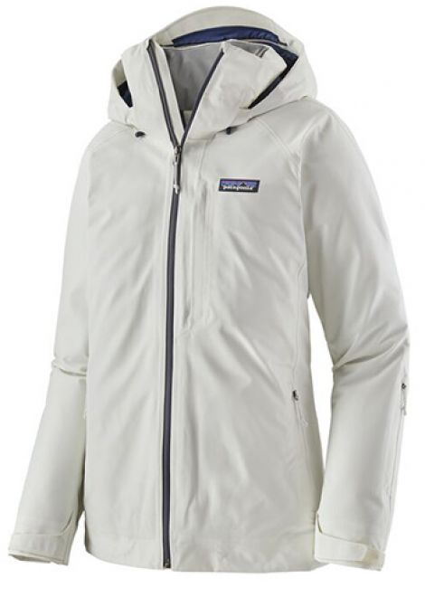 PATAGONIA WOMENS INSULATED POWDERBOWL JACKET BIRCH WHITE