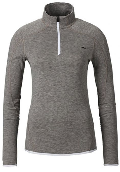 KJUS LADIES TRACE HALF ZIP DUSTY MELANGE