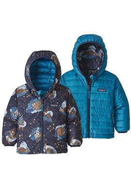 PATAGONIA BABY REVERS DOWN HOODY STARLIGHT NAVY