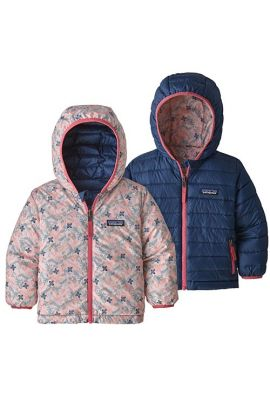 PATAGONIA BABY REVERS DOWN HOODY WOODLAND FLORAL