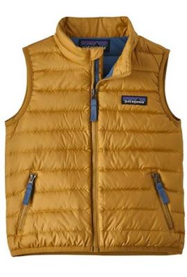 PATAGONIA BABY DOWN SWEATER VEST GLYPH GOLD