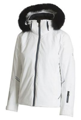 SUNICE CHRISTY REAL FUR JACKET WHITE