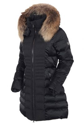 SUNICE EVA 3/4 COAT REAL FUR BLACK