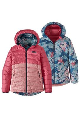 PATAGONIA GIRLS REVERS DOWN HOODY RANGE PINK