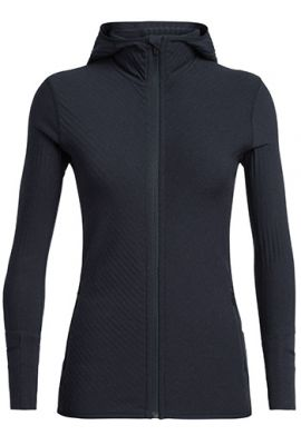 ICEBREAKER WS DESCENDER LS ZIP MIDNIGHT NAVY