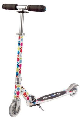 MICRO WHITE FLORAL SCOOTER