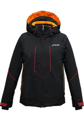 PHENIX JNR NISEKO JACKET BLK/ORANGE