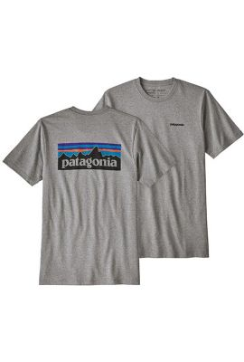 PATAGONIA MS P6 LOGO RESPONSIBILI TEE GRAVEL HEATHER