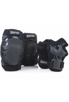 RAMPAGE TRI PACK WRIST GUARDS KNEE AND ELBOW PADS