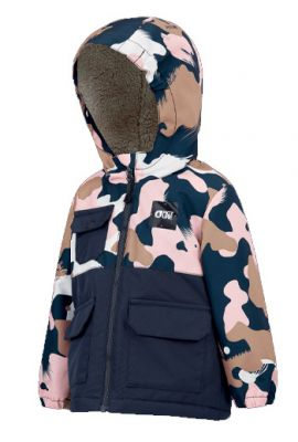 PICTURE JNR SNOWY JACKET PINK PAINTER