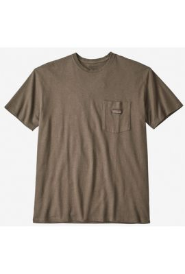PATAGONIA MS WORK POCKET TEE BURNIE BROWN