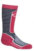 MED SKI SOCK - WILD ROSE